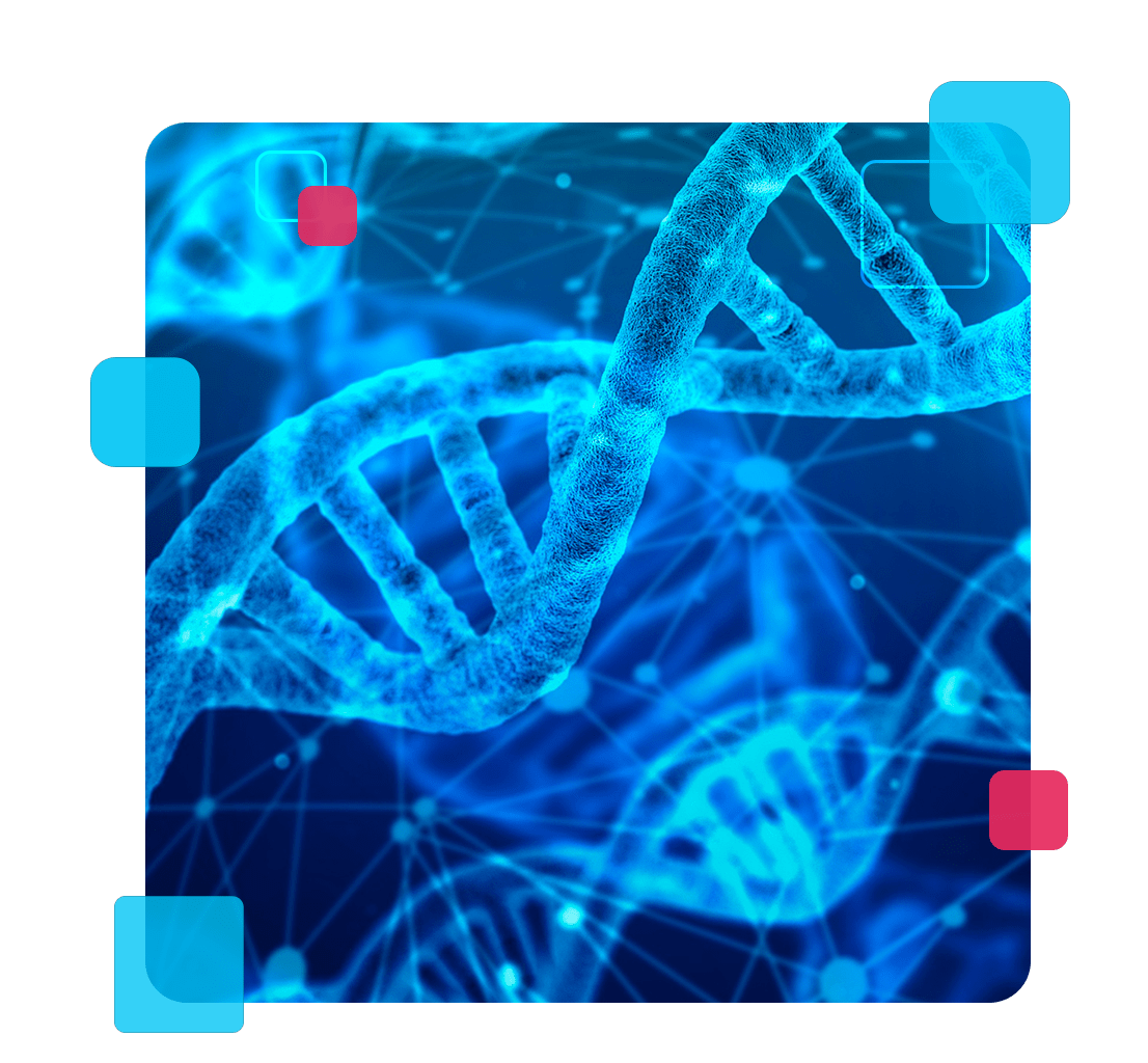 A imagem faz referência ao sequenciamento do exoma do DNA