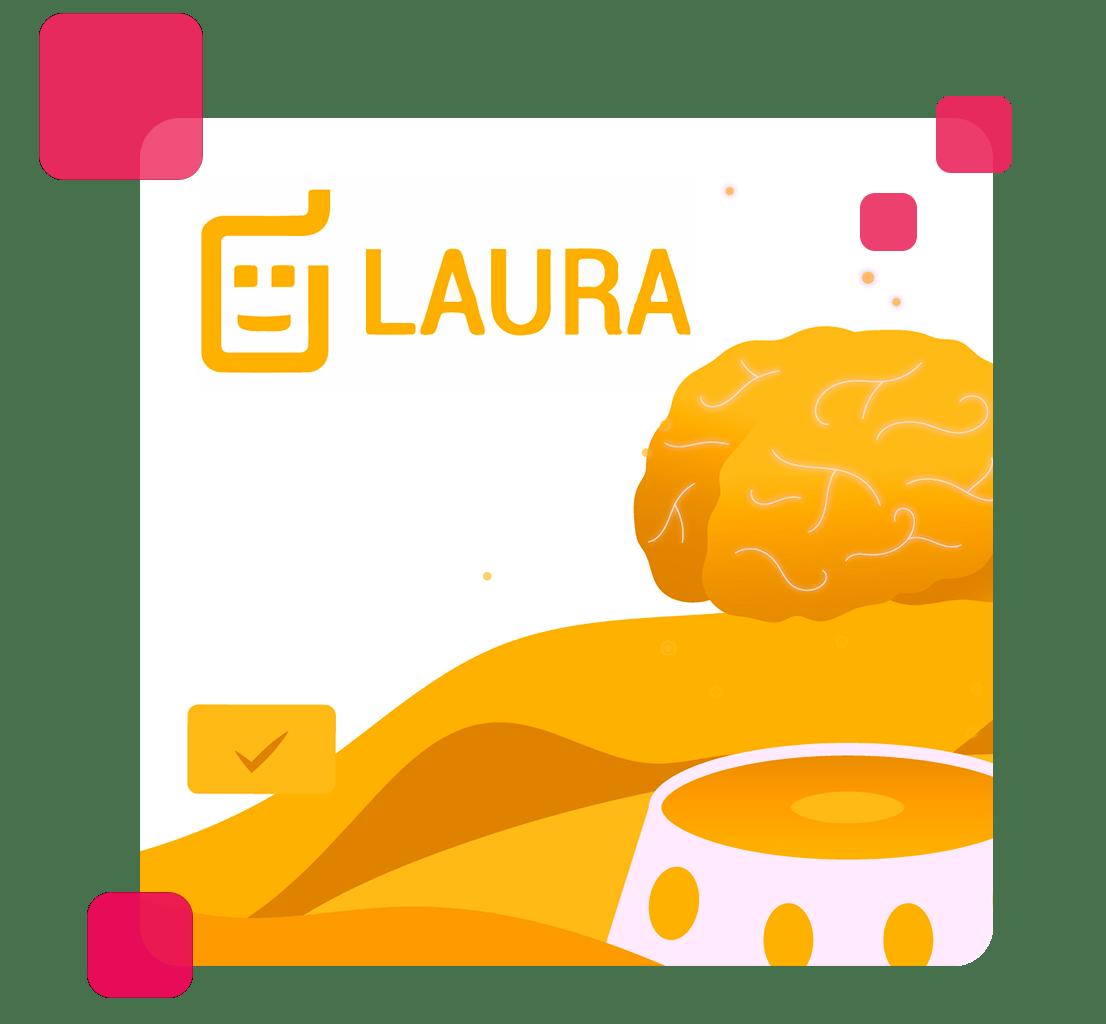 A imagem mostra o logo da Laura